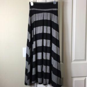 Gray & Black Long Skirt